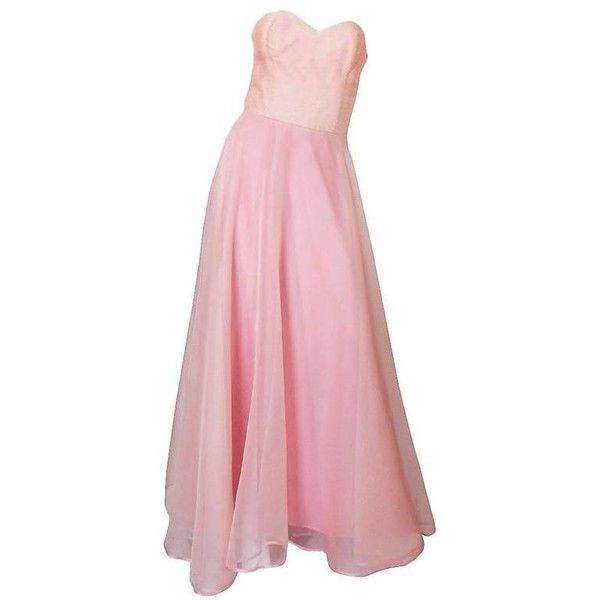 Preowned Dramatic 1975 Loris Azzaro Couture Pink Silk Gown   Cape ... 2bbade404