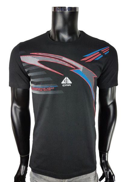 2b789eeabe T-Shirt sportowe - Czarny - T-shirty męskie - Awii