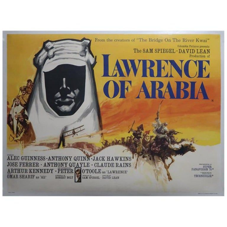 Lawrence of Arabia 1962 Multi-Size 60s Movie Poster Canvas Wall Art Film Print