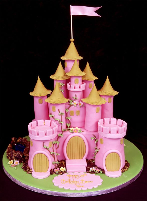 Pink And Gold Castle Cake Cake Pics Castle Birthday Cakes Fairy