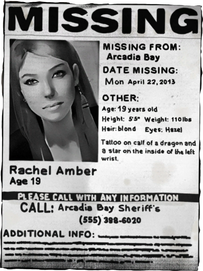 Missing Person Paper Rachel Amber  Missing Poster Generator