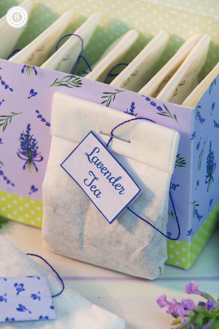 Lavender tea and diy tea bags from coffee filters diy tea bags