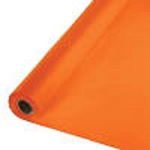 Orange 40 Plastic Tablecloth Banquet Table