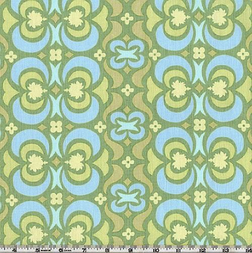Amy Butler Midwest Modern Garden Maze Green From Designed By Amy Butler For  Westminster/Rowan Fabrics. Colors Include Yellow And Light Blue On A  Celadon ...
