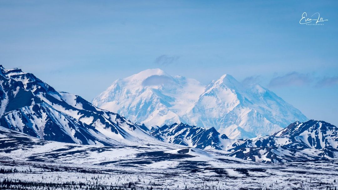 Denali from Denali National Park on a clear day [5566 x