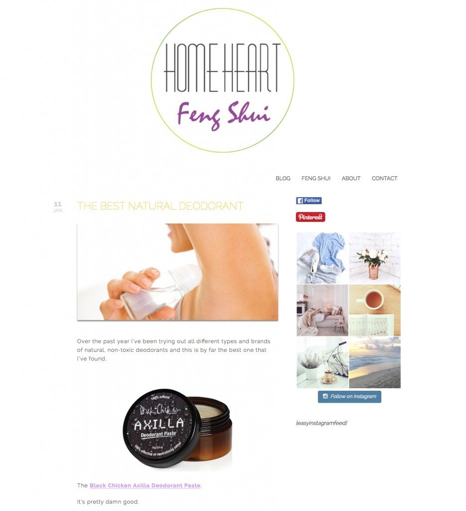 Home Heart Feng Shui January  The best natural deodorant