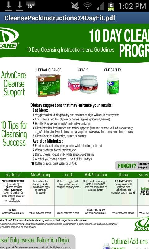 19 New Advocare Herbal Cleanse Instructions Pdf
