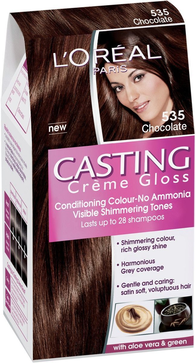 Loreal Paris Casting Creme Gloss 535 Chocolate Hair Pinterest