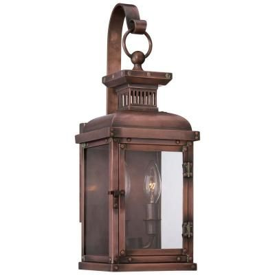 The Great Outdoors By Minka Lavery Copperton 2 Light Manhattan Copper Outdoor Wall Lantern Sconce 9072 264 The Home Depot Wall Mount Lantern Outdoor Wall Lantern Outdoor Wall Lighting