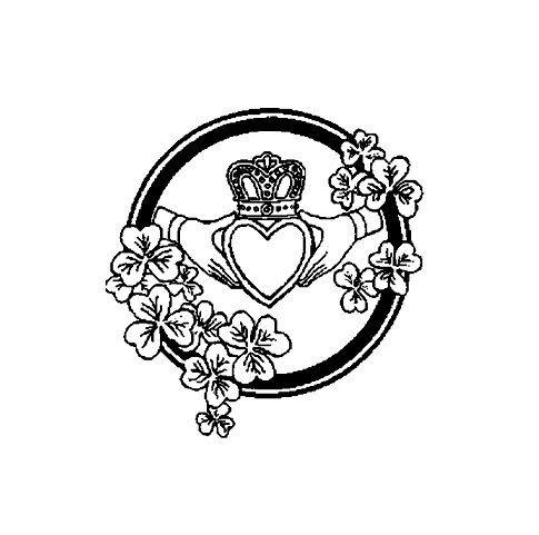 Celtic Claddagh Symbol Rubber Stamp Claddagh Symbols And Etsy
