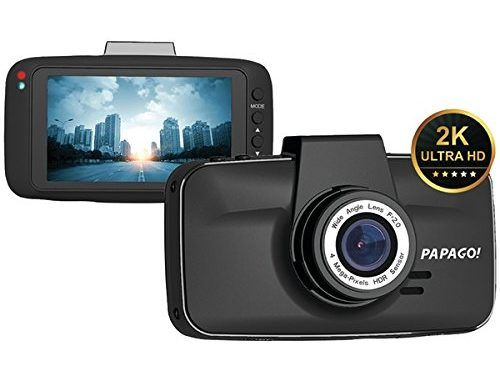 New Papago GS520-8G GoSafe 520 UltraWide HD 2K Resolution Dash Cam with 8GB microSD Card | Best Dashboard Camera