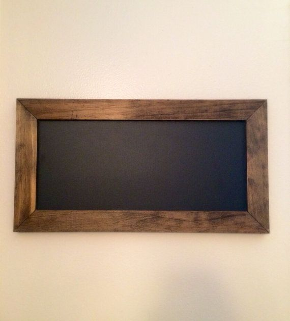 Small Framed Blackboard with Rustic Dark by CountryMadeMemories ...