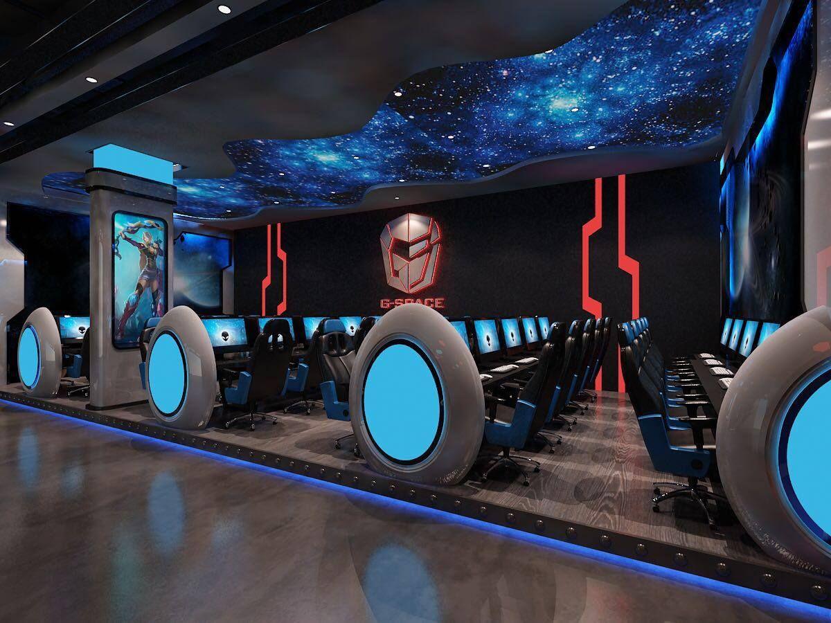 1st Floor Cyber Cafe Design Game Cafe Cyber Cafe Interior
