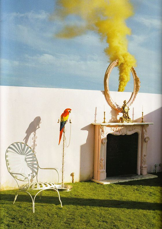 yellow smoke, tim walker