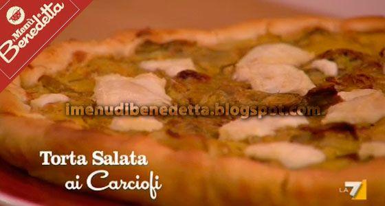 Torta Salata Ai Carciofi Di Benedetta Parodi Cucina Torte Salate