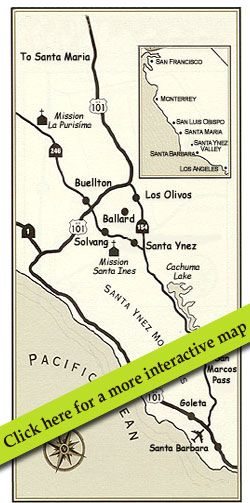 The Valley Wine Tasting Tour - map from the tour in the ... on lompoc wine trail map, amador wineries map, san ynez map, el dorado county wineries map, california ava map, sta rita hills appellation map, sonoma winery map, sonoma valley map, buellton wineries map, solvang map, augusta mo wineries map, best santa barbara wineries map, fair play wineries map, lompoc wineries map, monterey wineries map, los olivos map, napa valley wineries map, morro bay wineries map, santa rita hills map, montana state parks map,