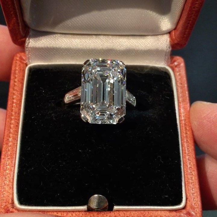 The Grace Kelly Ring: Art Deco Cartier 10.02 Ct D/IF Emerald Cut Engagement  Ring   Video
