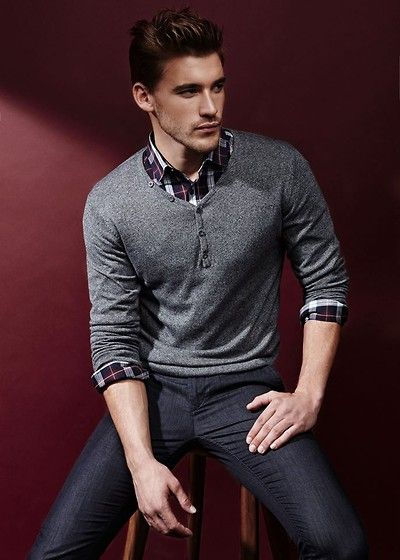 1535a688ae6 ... Fashion Styles - Mens Craze. Urban Outfitters Grey Partial Button Up  Sweater
