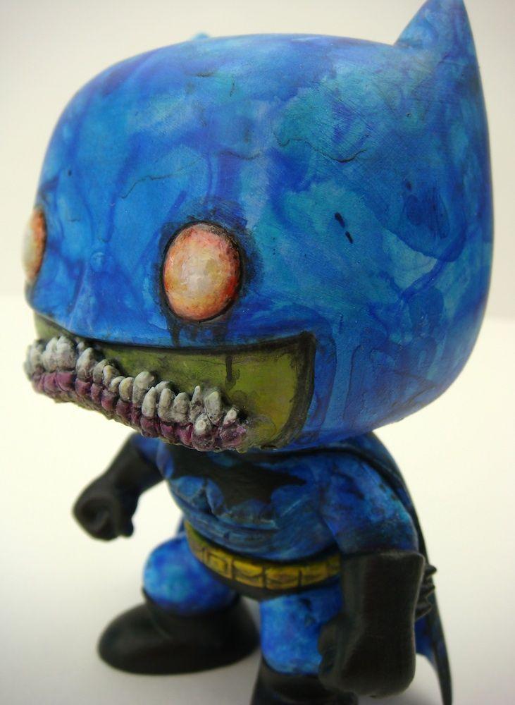 Zombie Batman Custom Funko Pop By Uncle My Art