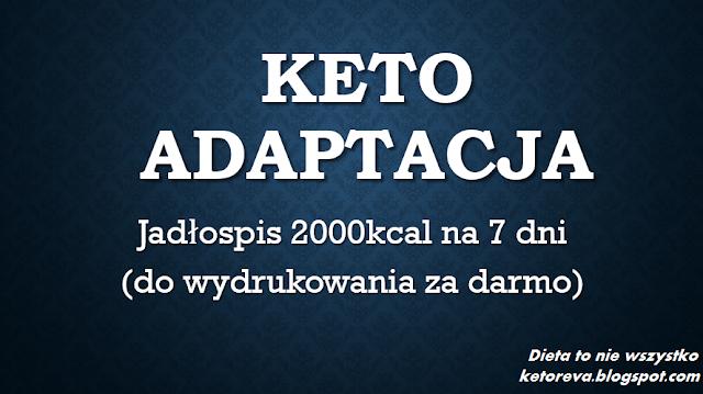 Ketoadaptacja Tygodniowy Jadlospis 2000kcal Dieta Ketogenna Wg