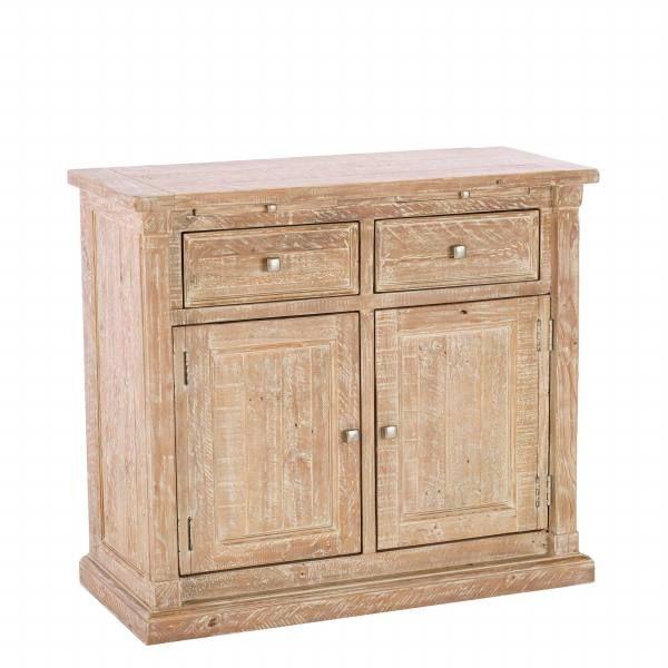 Austen Reclaimed Wood 2 Door And Drawer Sideboard White Wash