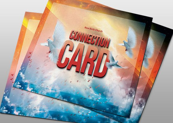 The Shout Church Connection Card by loswl on Creative Market