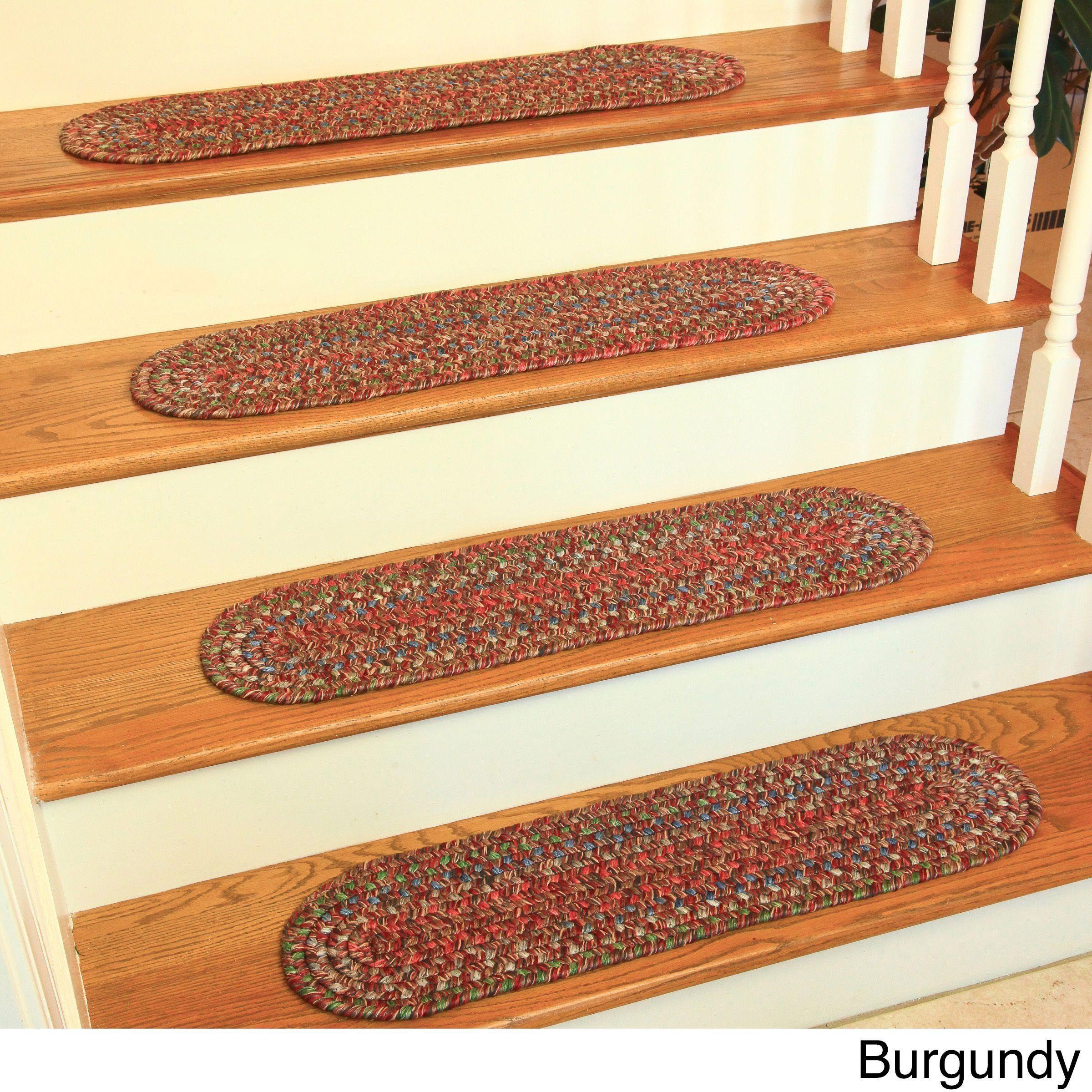 Best Rhody Rug Sophia Reversible Braided Stair Treads Set Of 4 400 x 300