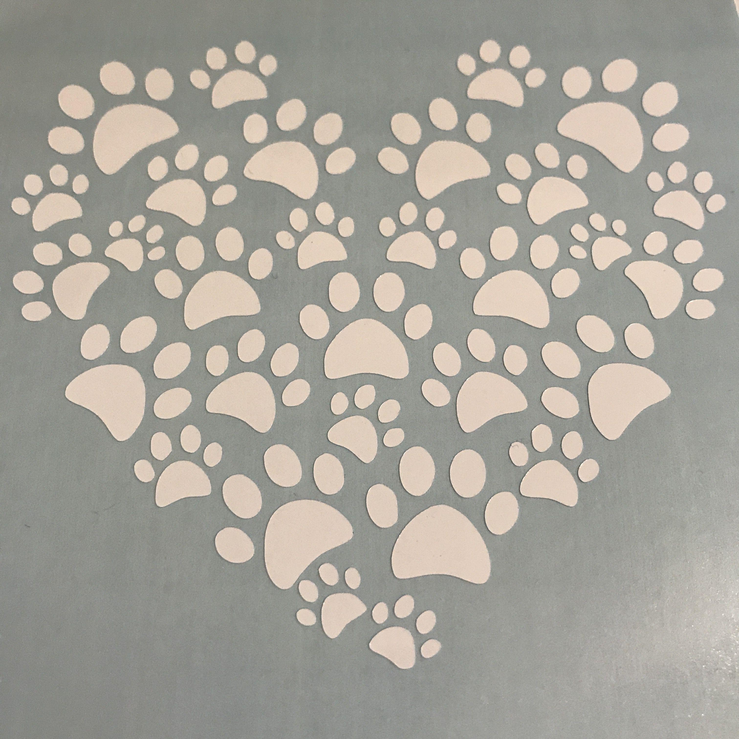 Paw Print Heart Vinyl Decal Custom Vinyl Decals Handmade - Custom vinyl decals printing