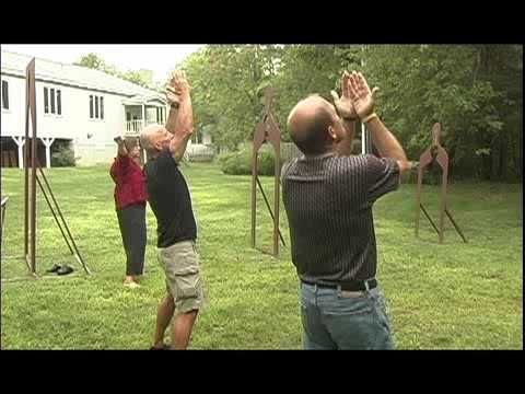 Qi Gong Video (Segment 3): 10 min (+playlist) Qi Gong: an ancient healing practice developed in China over 5,000 years, Qi Gong (chee-gong) is easy to learn, gentle and slow; anyone can do it. Awaken your senses, detoxify your body, and achieve a feeling of calm vitality and inner peace by following Cohen's simple standing exercises and graceful, flowing movements.