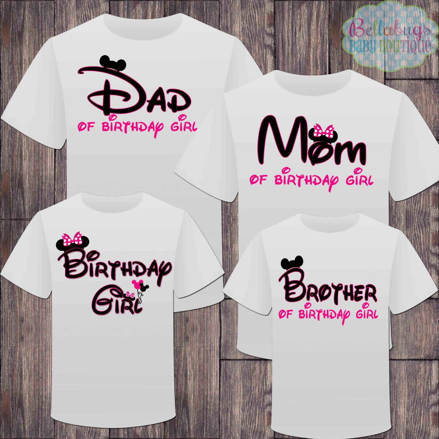 bfc17d6c2 Matching Disney Family Girl Birthday Tshirts - Mickey Minnie Mouse Birthday  Girl - Disney Inspired - Matching Birthday Shirts - Minnie Mouse by ...