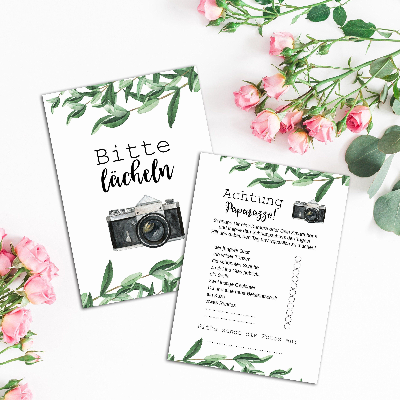 "50 Fotokarten ""Eucalyptus"" Fotospiel Hochzeit, Fotoralley"