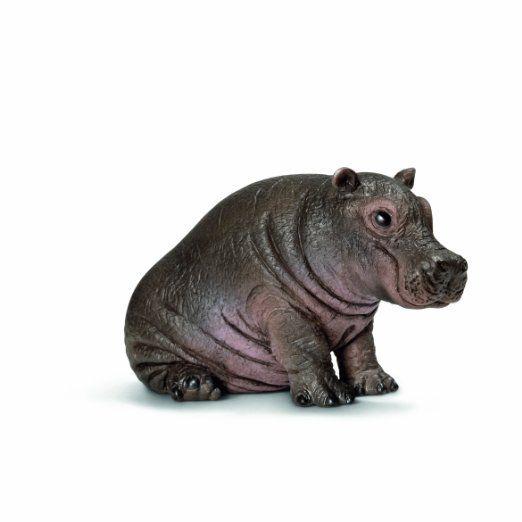 Schleich 14681 Hippopotamus Figurine Brown