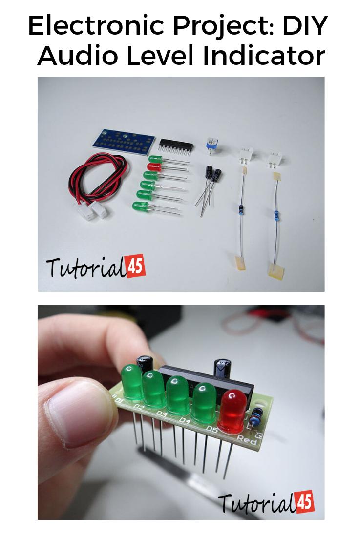 Electronic Project DIY Audio Level Indicator