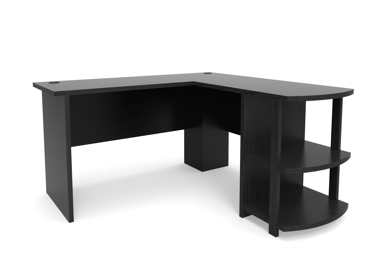Kristen Corner L Shaped Computer Desk In Black Black Computer Desk