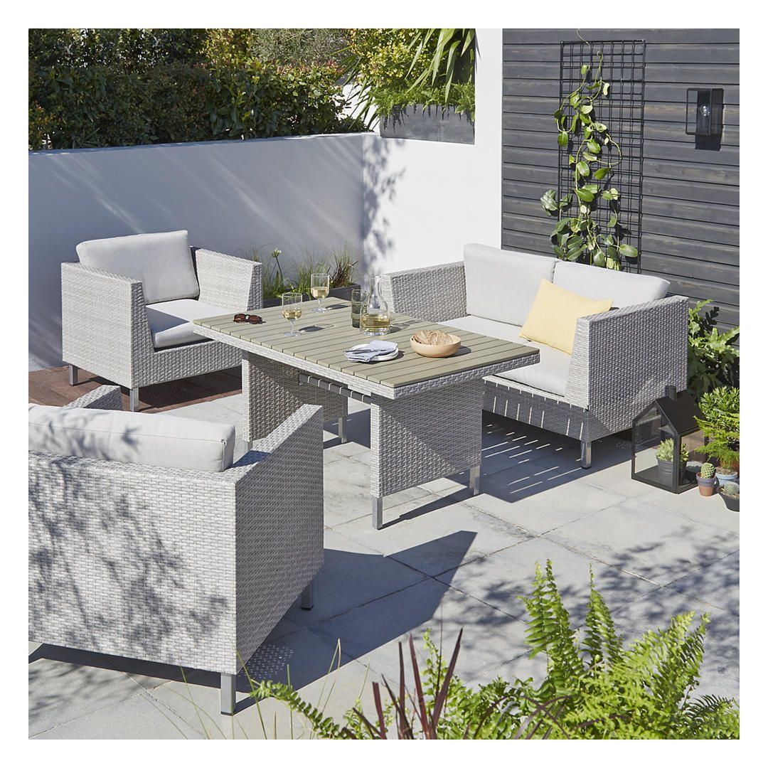 Oasis 4 Seater Garden Lounging Table And Chairs Set: John Lewis Madrid 4 Seater Garden Lounging Table And