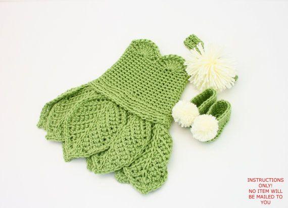 PDF DIGITAL PATTERN:Baby Tinkerbell Costume Pattern,Crochet Baby ...