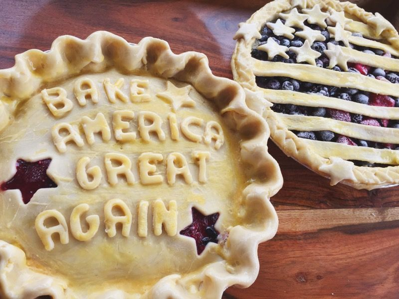 Bake America Great Again: A satirical strawberry blueberry and cherry American pie #TTDD