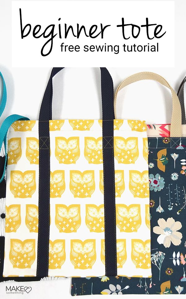 Beginner Sewing Project: Easy Tote