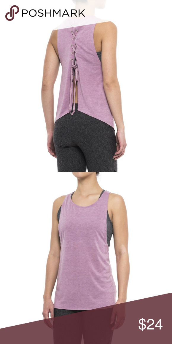 c58b6838db Yogalicious Women's Tank Top New with tag Color: Heather mauve It's all  about the back