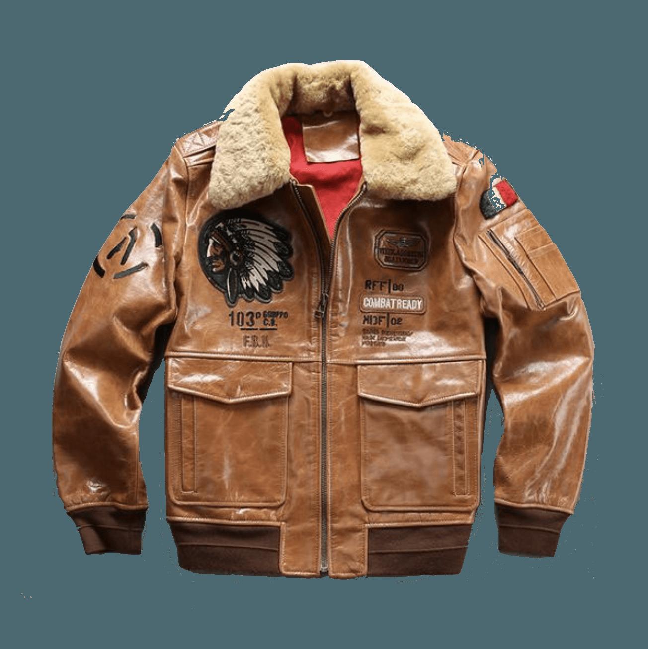 Genuine Cowhide Air Force Pilot Jacket Pilot Jacket Jackets Air Force Jacket [ 1306 x 1304 Pixel ]
