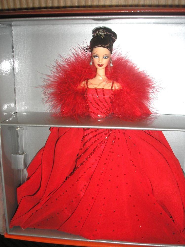 c5dc29cdaa5 Mattel NRFB Ferrari Barbie Limited Edition Swarovski Crystals Red Gown 2000   Mattel  Dolls