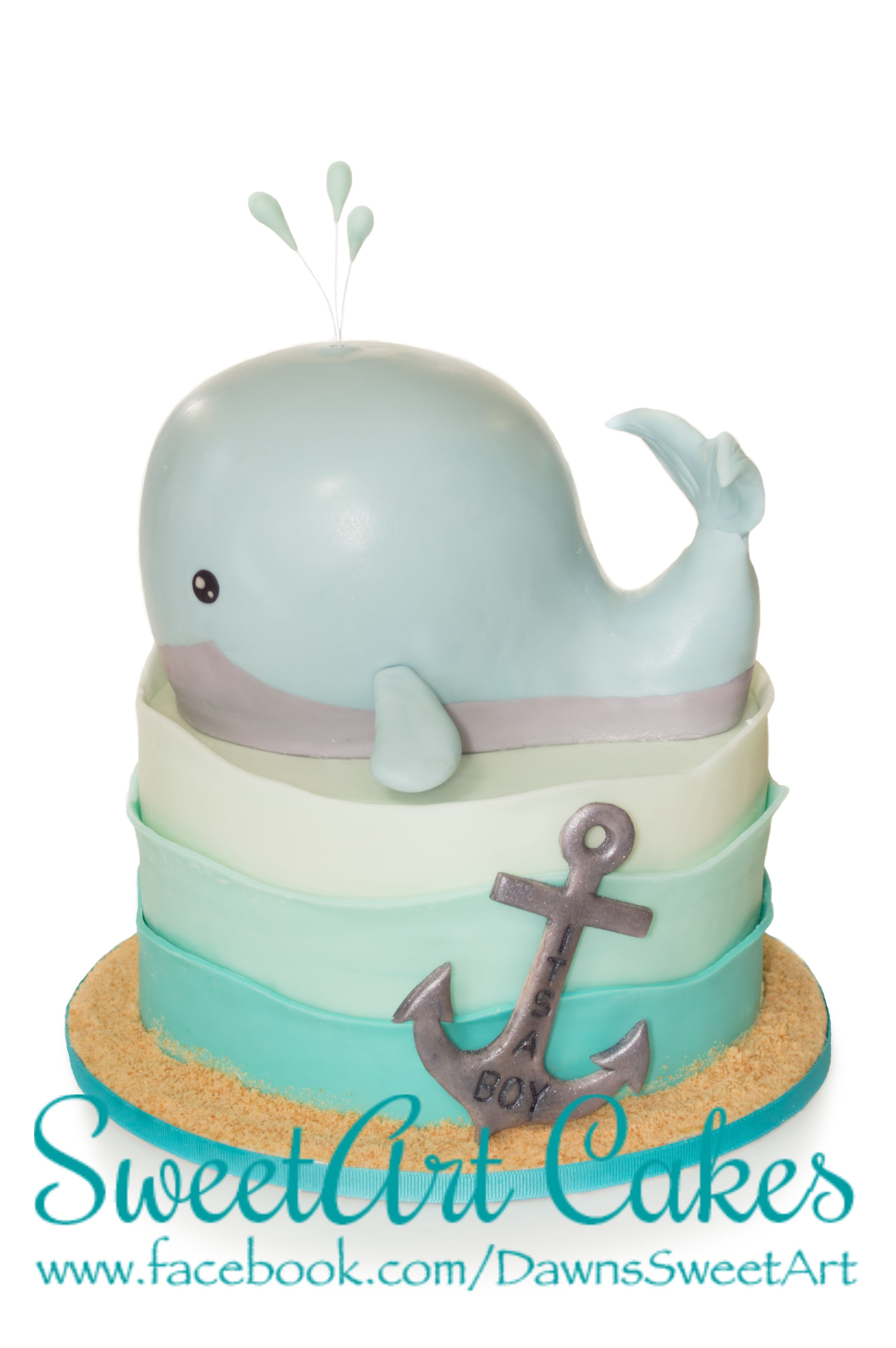 Baby Shower Cake, Whale Cake