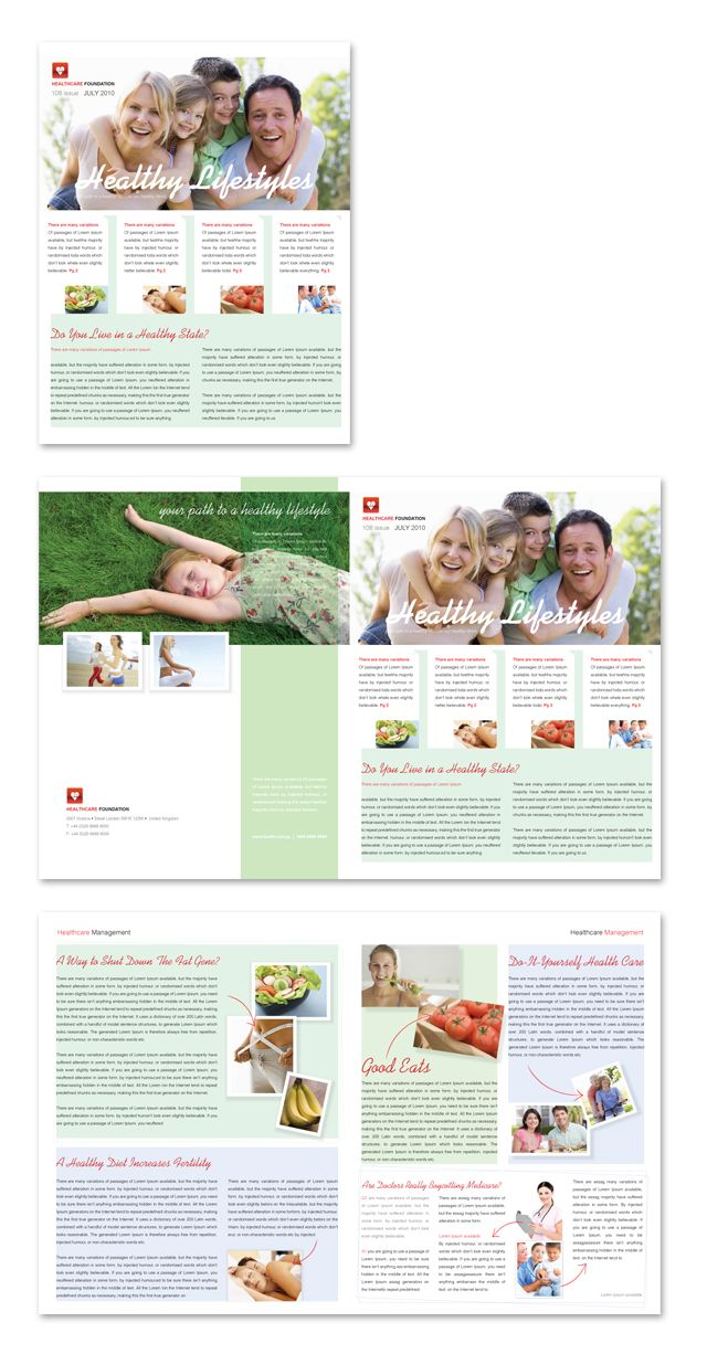 healthcare management newsletter template http www dlayouts com