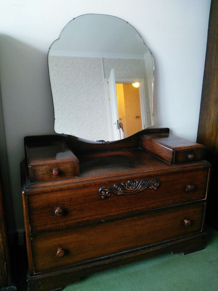 quality design 0612c cb53e Vintage Solid Wood 1940's Dressing Table chest of drawers ...