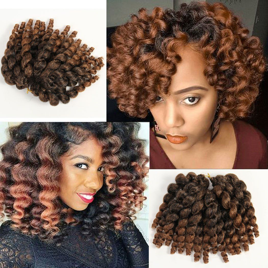 3 Packs 2x Ringlet Wand Curl Jamaican Bounce 8 Inch Synthetic Hair