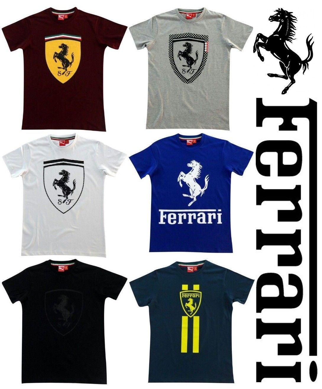Ferrari Puma Racing Merchandise 2017 Mens Crew Round Neck Cotton Tee Shirt  S M L 4d1bd4c8fb4