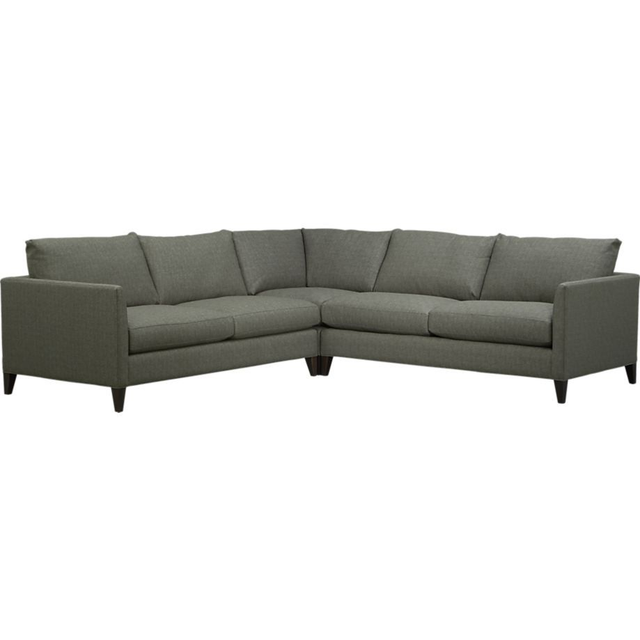Klyne II Left Arm Sectional Apartment Sofa | Crate and Barrel  sc 1 st  Pinterest : crate and barrel klyne sectional - Sectionals, Sofas & Couches