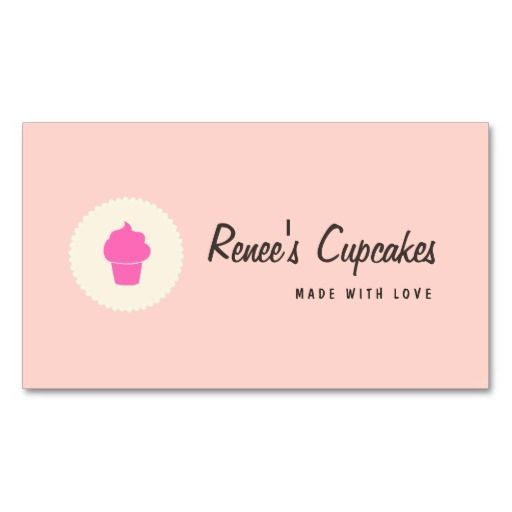 Cute pink cupcake simple retro pastry chef businesscards perfect perfect for chefs bakery pastry sous fully customizable and ready to order customizable business cards cheap business cards cool business cards reheart Image collections