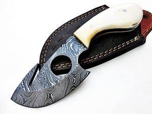 7 Gut Hook Skinner Damascus Steel Custom Handmade Camp Hunter Knife Skinning Knife Knife Hunting Knife