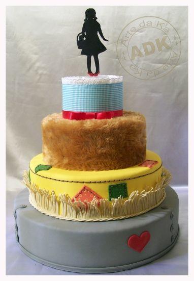 Cake de el mago de Oz. Será comestible? Parece  peluche de verdad
